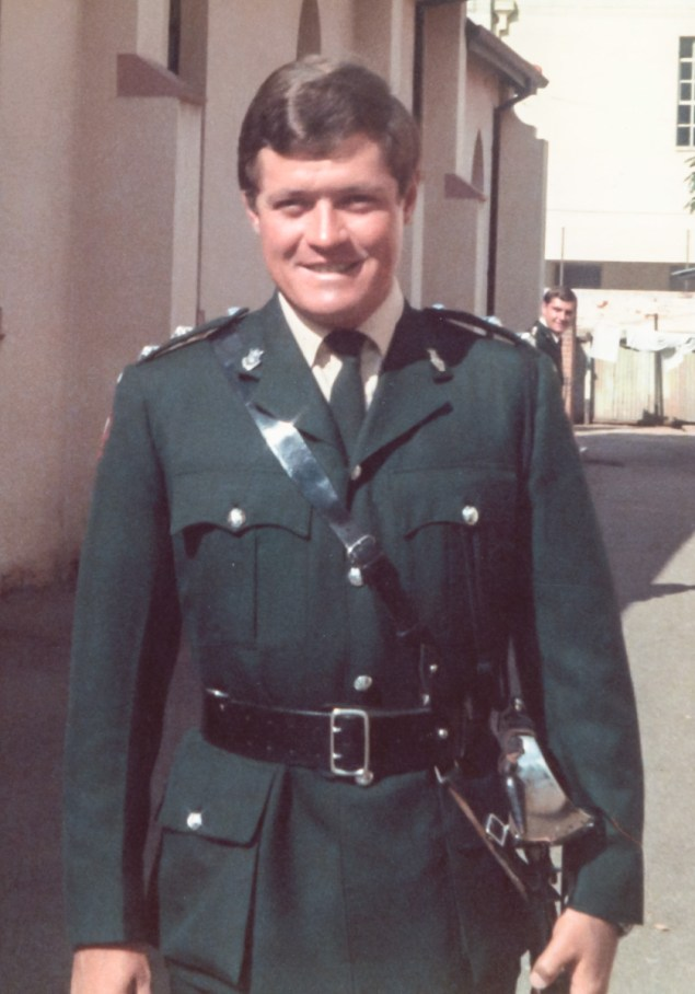Lt. John Lamb :Taken outside the Main Street Methodist Church. April 1973 on the occasion of his marriage to Beryllyn Thompson.