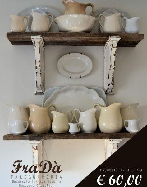 Sono comodissime in cucina per porvi i barattoli,. Mensole Shabby Chic Falegnameria Frada Falegname A Palermo