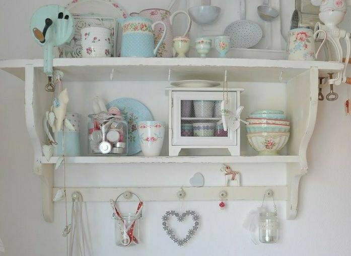 Scegli una cucina in stile shabby chic. Mensola Shabby Chic Modello 12 Falegnameria Frada Falegname A Palermo