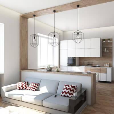 Se lo spazio che dalla cucina porta al soggiorno è parzialmente delimitato e nascosto da muri in cartongesso, la soluzione che vedi in immagine è l'ideale. Mobili Divisori Per Ambienti Tante Idee Per Dividere Casa