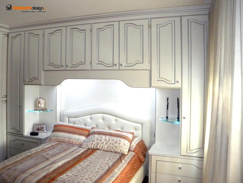 Cerchi il comodino in kit perfetto per la tua camera da letto? Armadi A Ponte Su Misura In Vero Legno Falegnamerie Design