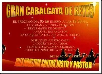 CARTEL CABALGATA REYES 2012
