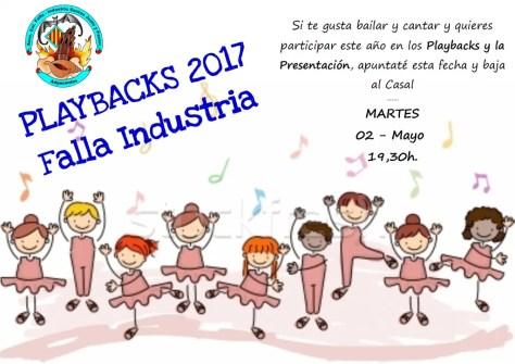 Presentación y Playbacks 2017-2018 Falla Industria