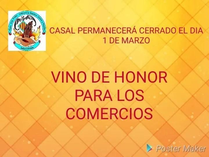 Vino de Honor 2018