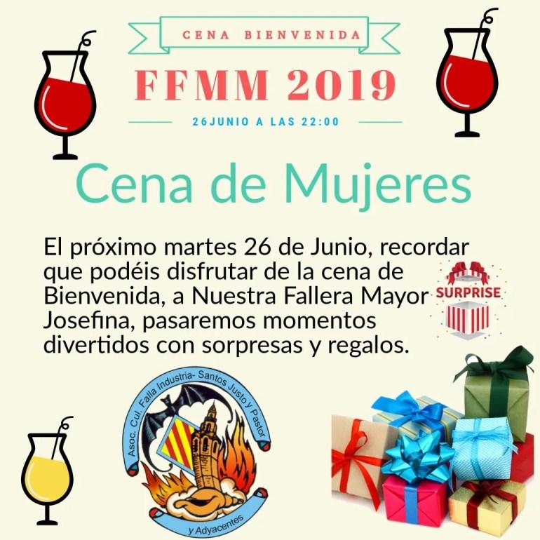 Cena Mujeres FM 2019 Falla Industria
