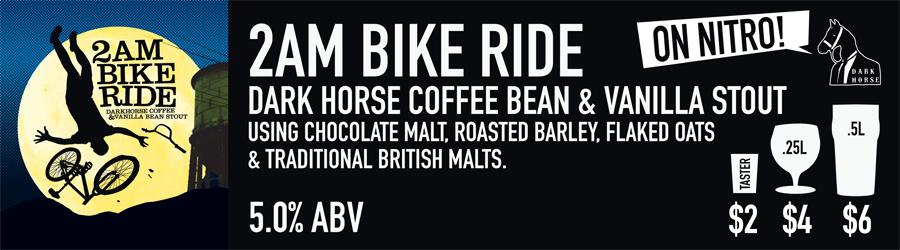 2AM Bike Ride Beer Sign