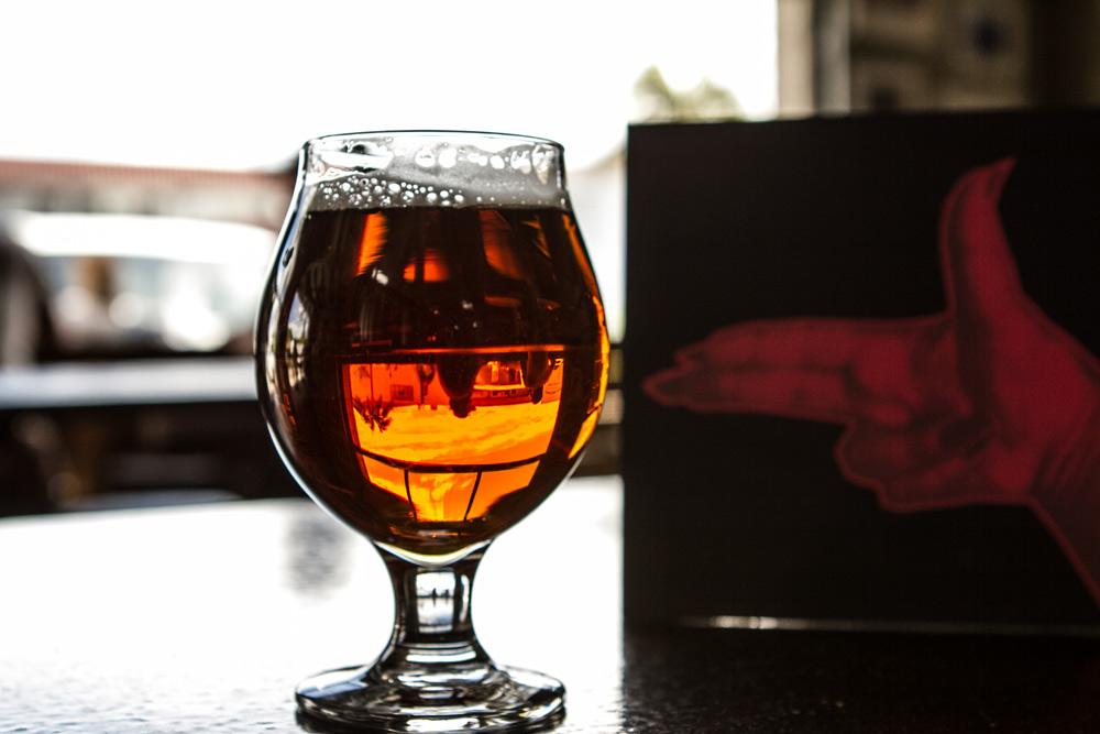 Tulip Glass of Beer
