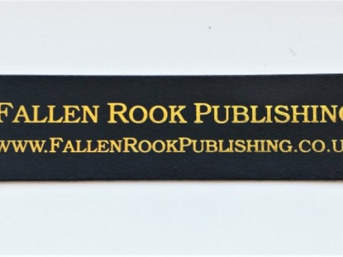 Fallen Rook Publishing leather bookmark