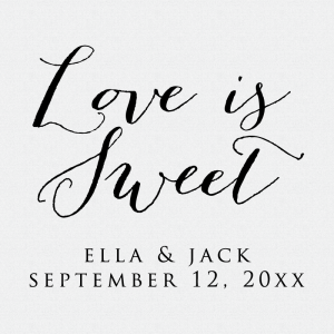 Love Is Sweet Wedding Favor Stamp