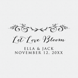 Let Love Bloom Stamp