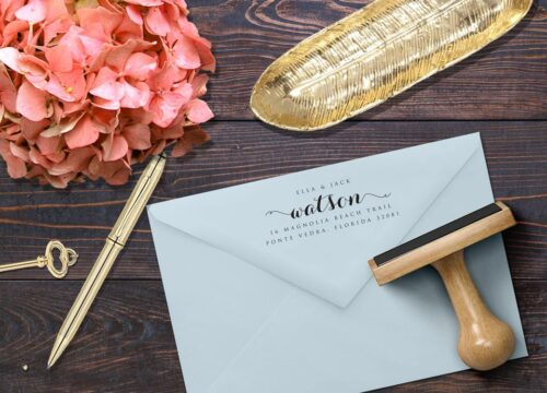 Address Stamp on Back of Envelope