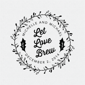 Unique Winter Wedding Favor Let Love Brew
