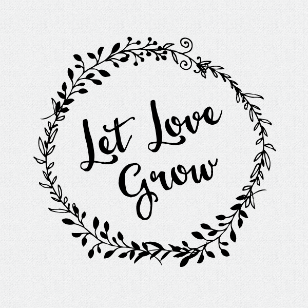 Download Let Love Grow Wedding Favor Stamp, Wedding Decor
