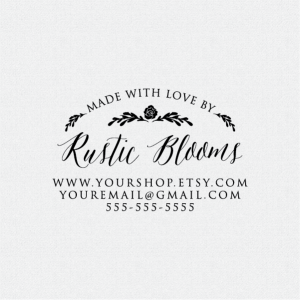 Rustic Business Stamp Handmade By