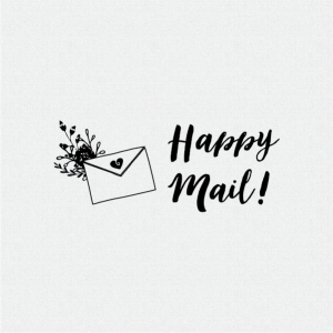 Happy Mail Rubber Stamp T372