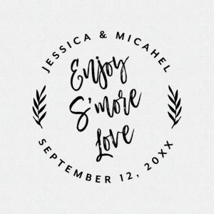 Tropical Wedding Favor Ideas Enjoy S'More Love – Style T423
