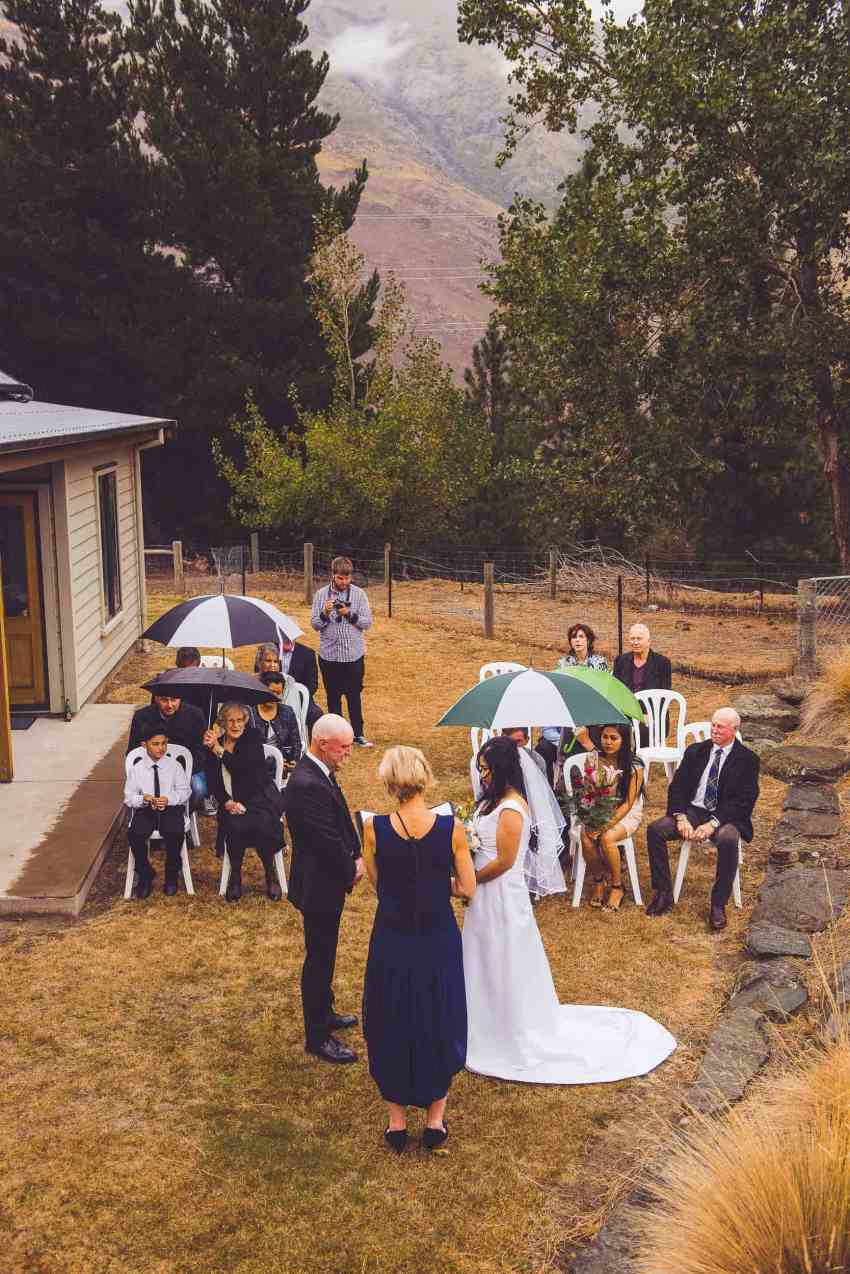 backyard gibbston valley wedding