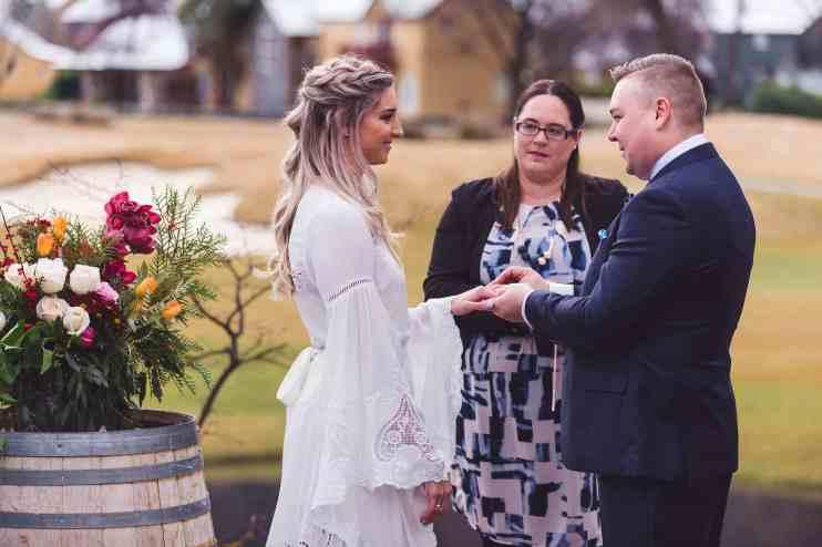 Millbrook winter wedding secret garden ceremony