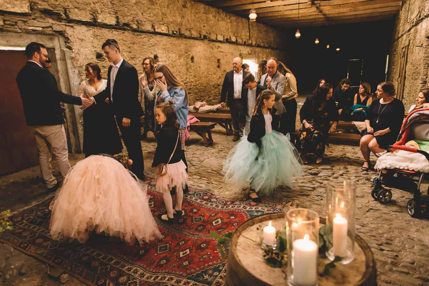Sam & Kirk's Thurlby Domain Elopement - ceremony in the old stone stables with Jodie Stuart Wedding Celebrant
