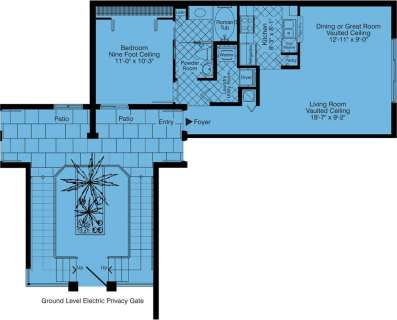 1 Bed / 1 Bath / 767 sq ft / Rent: Call for Details