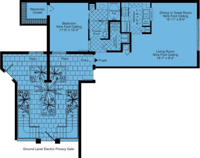 1 Bed / 1 Bath / 805 sq ft / Rent: Call for Details