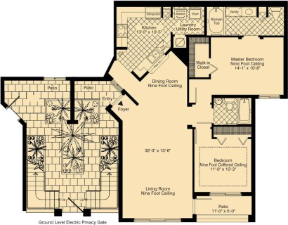 2 Bed / 2 Bath / 1,233 sq ft / Rent: Call for Details