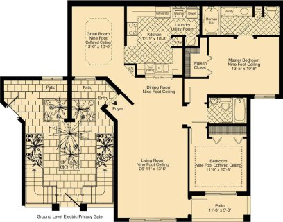 2 Bed / 2 Bath / 1,330 sq ft / Rent: Call for Details