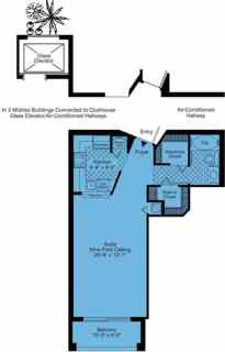 Studio / 1 Bath / 634 sq ft / Rent: Call for Details