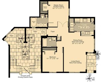 2 Bed / 2 Bath / 1,107 sq ft / Rent: Call for Details