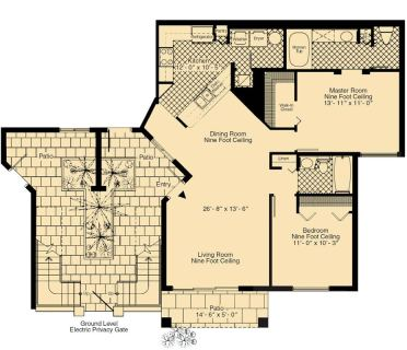 2 Bed / 2 Bath / 1,156 sq ft / Rent: Call for Details
