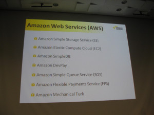 AWS the services side