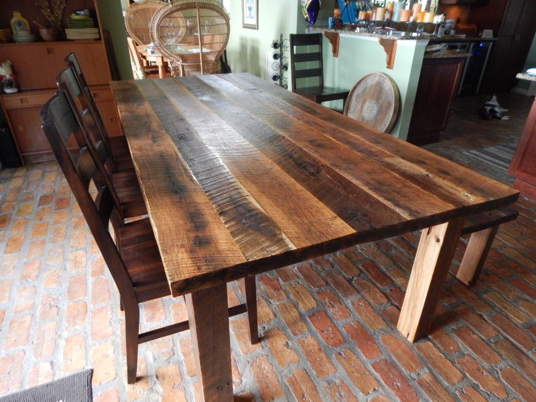 Dawns Reclaimed Wood Farmhouse Dining Table Fama Creations