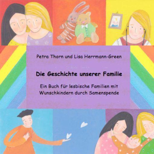 lesbische Familie mit Kind und Samenspender