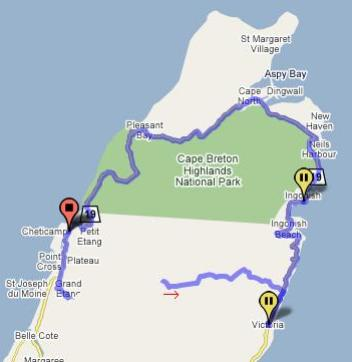 Cabot trail route