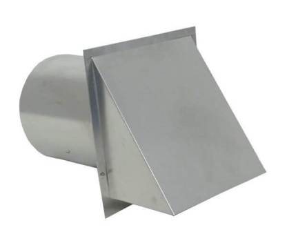 Hooded Wall Vent with Screen - Galvanized-0