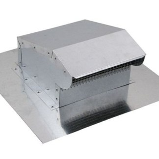 Bath Fan / Kitchen Exhaust - Roof Vent - Galvanized-0