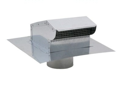 Bath Fan / Kitchen Exhaust - Roof Vent with Extension - Galvanized-0