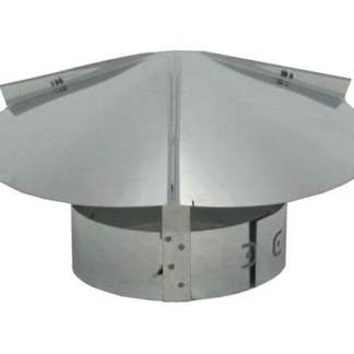Cone Top Chimney Cap with Screen – Galvanized-0