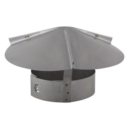 Cone Top Chimney Cap with Screen - Stainless Steel-0