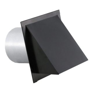 Hooded Wall Vent with Short Tube, Screen, Damper, Spring and Gasket-0