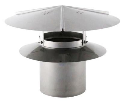 Universal Chimney Cap - Galvanized-0