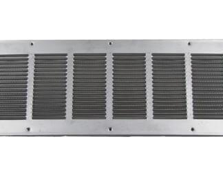 Louvered Foundation Vent with Damper - Aluminum-0