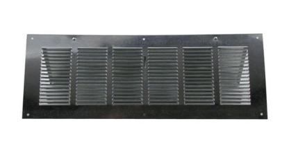 Louvered Foundation Vent with Screen and Damper - Galvanized-0
