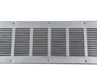 Louvered Foundation Vent with Screen - Galvanized-0