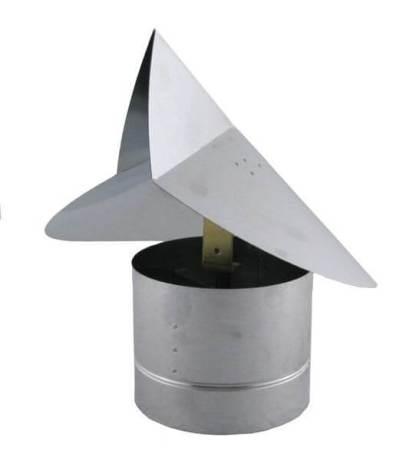 Wind Directional Chimney Cap - Galvanized-0