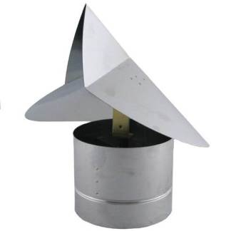 Wind Directional Chimney Cap - Galvanized-0