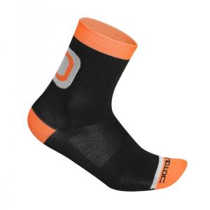 LOGO calcetines medios Negro-Naranja 10 cm