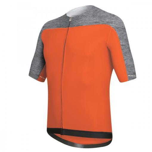 SKIN maillot m/corta Naranja-Gris