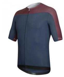 SKIN maillot m/corta Azul-Burdeos