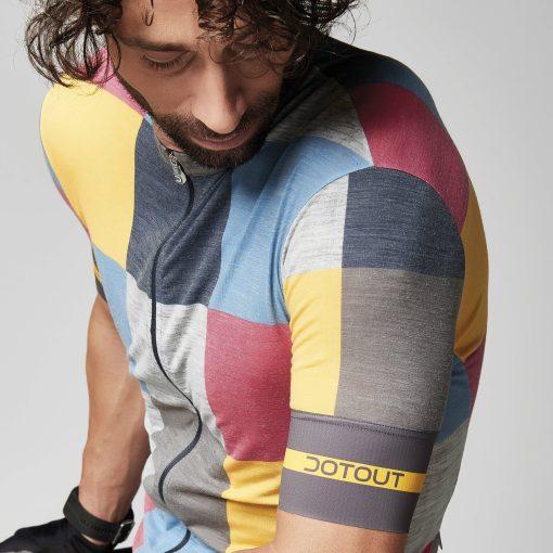 SQUARE maillot m/corta Azul-Amarillo-Fucsia